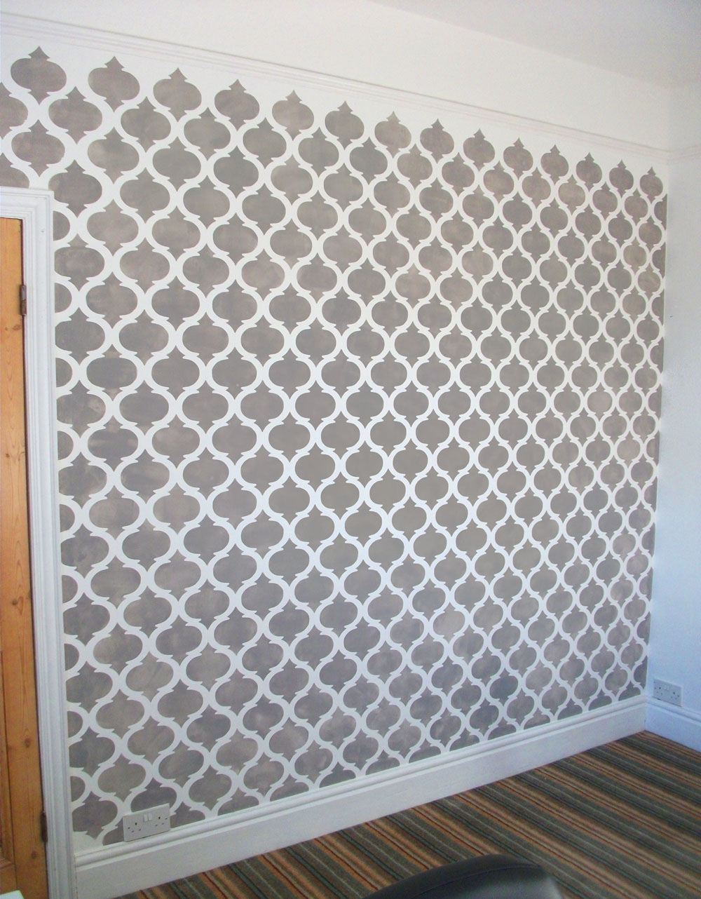 Wall pattern stencil images home wall decoration ideas moroccan quatrefoil allover pattern stencilling ideal stencils blog final moroccan stencil amipublicfo images amipublicfo Image collections